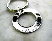 YOUR TEAM Hand Stamped Personalized Keychain