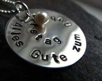 SPIRAL Sterling Silver Personalized Necklace with Pearl