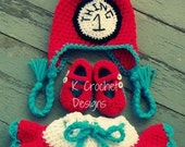Crochet baby hat/skirt/shoes/Photography prop/ 0-3 months