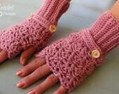 Crochet fingerless gloves-Crochet mittens-gloves-fingerless mitts-women-ladies-gift for her-lacey mitts-texting gloves