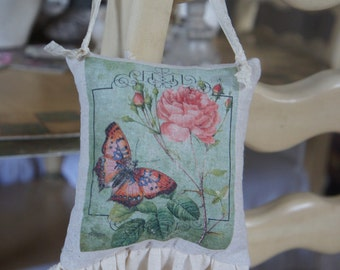Roses and Butterflies - Door Chair Pillow Hanger