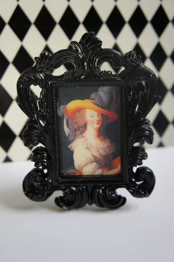 Framed Marie Antoinette in French Black Frame