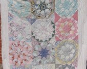 Vintage Handmade Quilt - Well Loved Quilt - Star Pattern Cutter Quilt (Treasury Item)