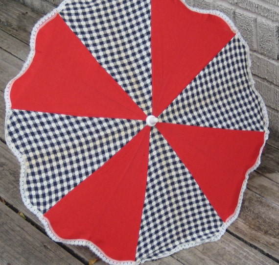 Vintage Parasol / Umbrella for Stroller/ Pram/ Pushchair