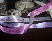 Final Moving SALE 50% off  Disney Princess Ribbon Pink, White, Purple- Your Choice 1 yard