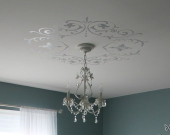 Decorative Wall & Ceiling Vinyl Decals 'Shabby Chic' or 'Modern Victorian'