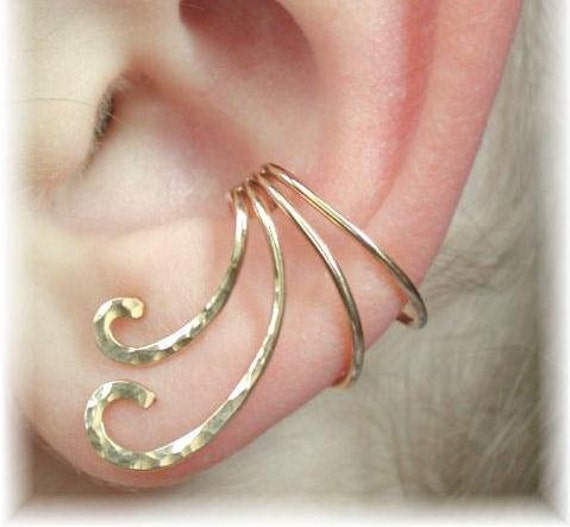 Ear Cuff - The Curl - Gold Filled or Sterling Silver - SINGLE SIDE