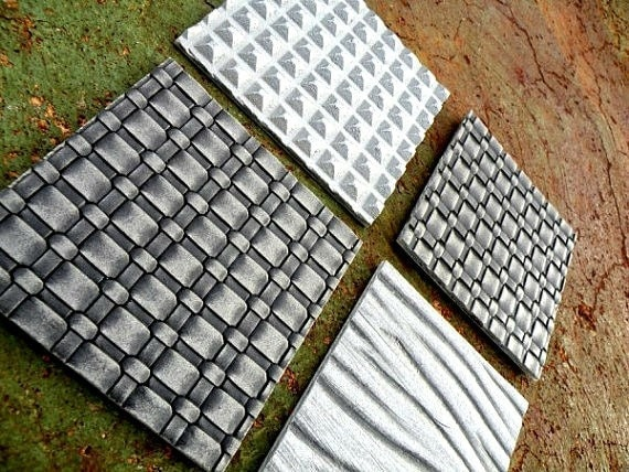Solid Metal Coasters Tiles Industrial / Architectural