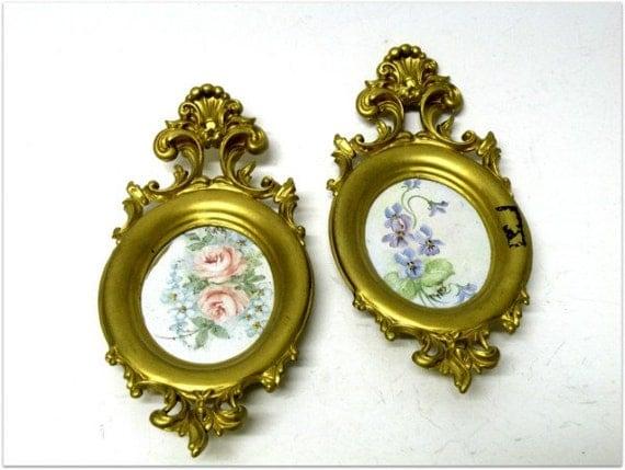 Set 2 Vintage Gold Ornate Frames