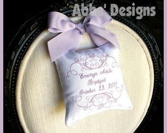 Baptism  Pillow or Birth Announcement  Pillow - Monogrammed Door Knob Pillow - Armoire - Bedpost - Doorknob -  Baptism Christening  Pillow