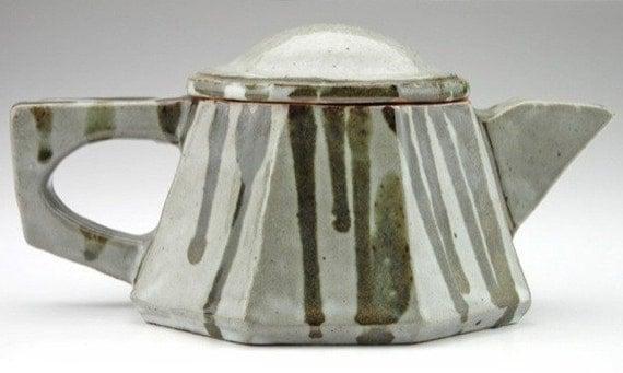 Handcrafted Stoneware Tea Coffee Pot