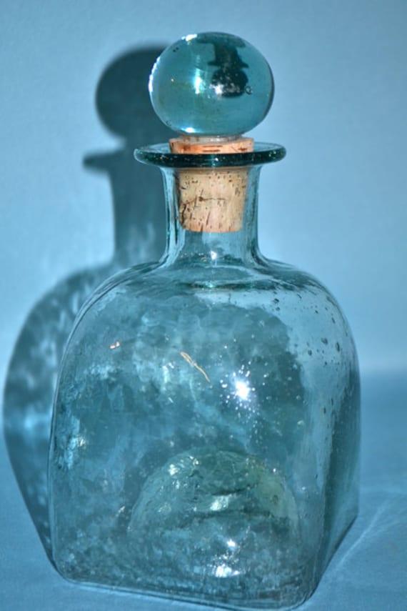 Vintage Hand Blown Glass Decanter
