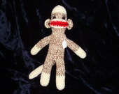 No Button Naked Sock Monkey Number 6