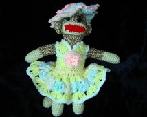 Crochet Easter Outfit Sock Monkey