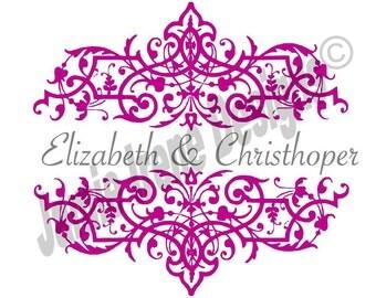 3 Custom Designed Digital Wedding Monograms Package