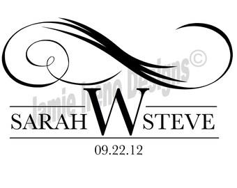 Custom Designed Wedding Monogram or Logo, Digital Gobo for Your Wedding or Any Special Event, Custom Monogram, Custom Logo, Digital Gobo