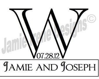 Custom Designed Wedding Monogram Digital File