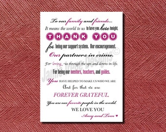 Modern Wedding Day Thank You Card