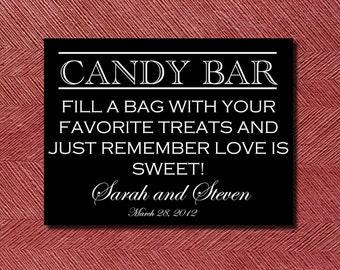 Modern Printable Wedding Candy Bar Sign