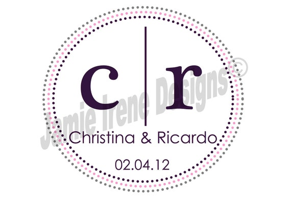 Custom Designed Wedding Monogram Digital File