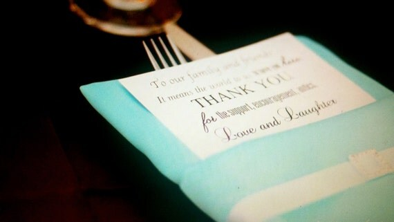 Elegant Wedding Reception Place Setting Thank You Card DIY Printable