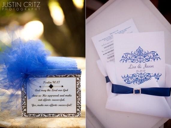 Elegant Monogramed Wedding Reception Table Setting Card DIY Printable