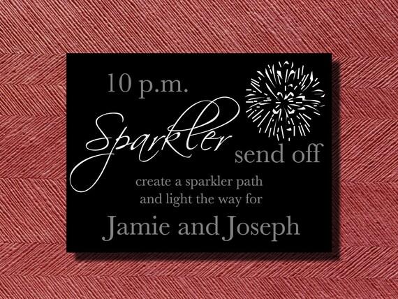 Wedding Signage Sparkler Send Off Sign or Poster DIY Print Ready