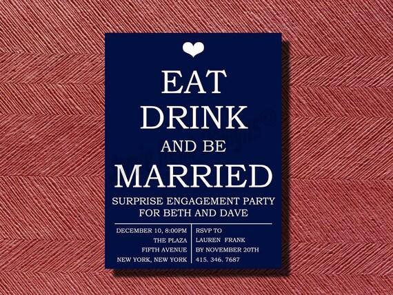 Wedding Engagement Party Invitation DIY