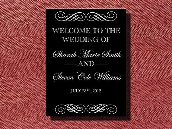 Wedding Welcome Sign or Poster DIY