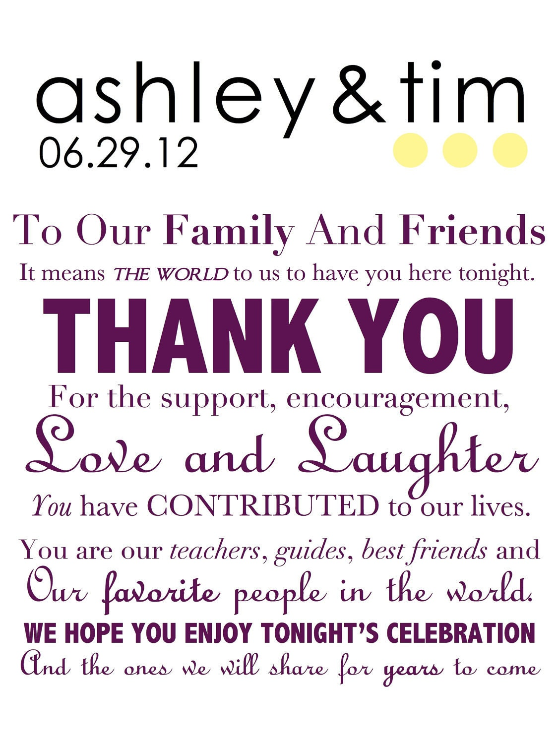 wedding day thank you card wedding thank you note to guests