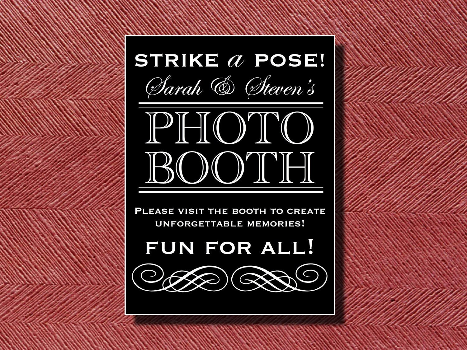 Wedding Photo Booth Sign Or Poster DIY
