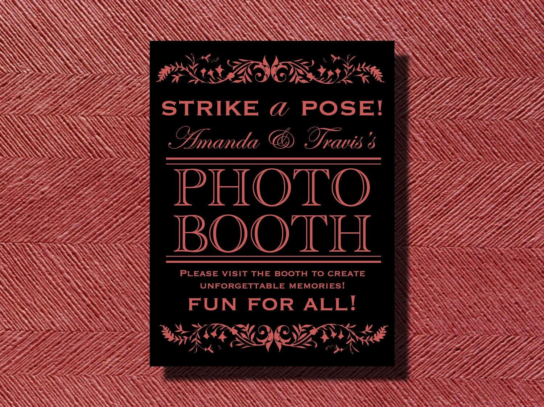 Wedding Reception Photo Booth Ideas: Wedding Reception Photo Booth Sign DIY