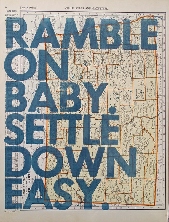 Ramble On Baby/ North Dakota