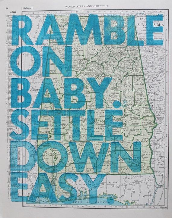 Alabama/ Ramble On Baby. Settle Down Easy.