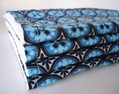 For Jacqui Blue and Brown Tile Reusable Wipes