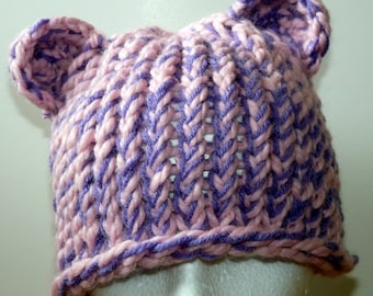 Knit bear or mouse hat 0-toddler size