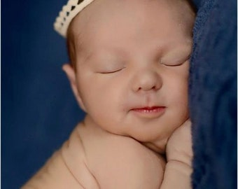 JOSEPH delicate tiny crown- off white antique white  cream colored newborn prince princess king queen birthday photography prop royalty