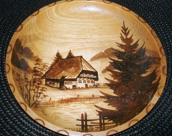 PWood Plate Plaque Wall Hanging from Black Forest, Germany Wall Decor Souvenir Collectible Home Decor