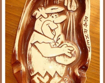 Antique Barney Rubble Ashtray REDUCED PRICE Flintstone Series Hanna Barbera Productions 1961