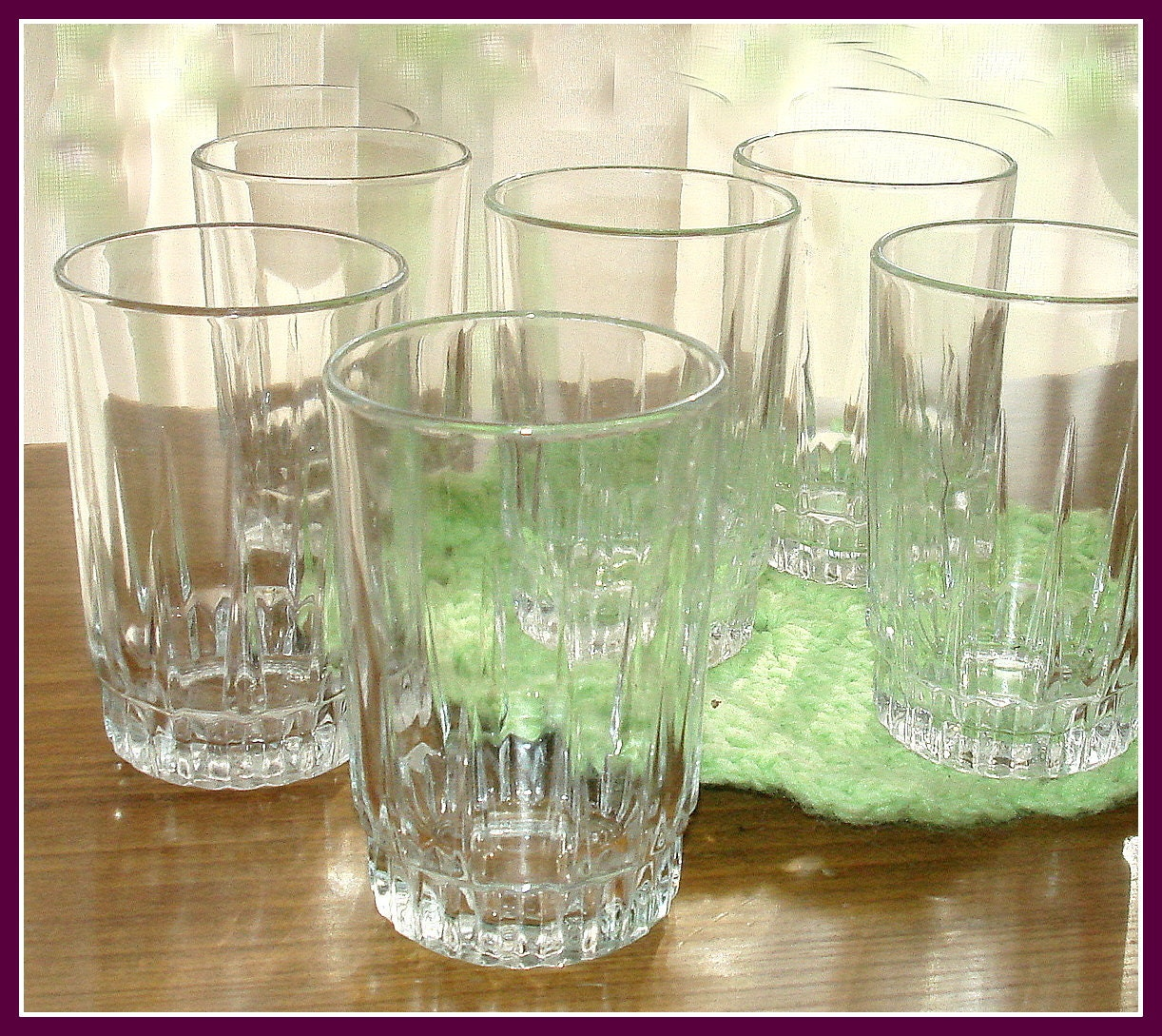 Vintage Juice Glasses Made In France By Arcoroc 5 Ounce
