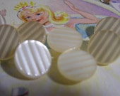 Vintage buttons for craft ..  Creamy white   1 and 2 Dollar BARGAIN SALE WEEK