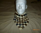 Hand Crafted Crochet Dragon Scales ascot or neckwarmer