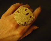 Sand Dollar Ring -  Upcycled