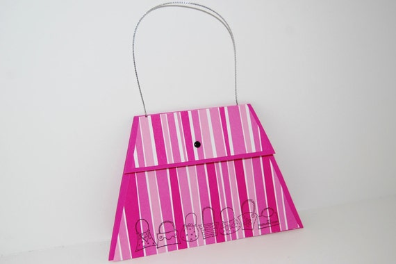 Purse Card - Hot Pink and White Stripes Gift Card Holder