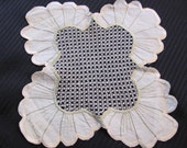 """Wonderful Handmade Beige Doily - Unique 8"""""""