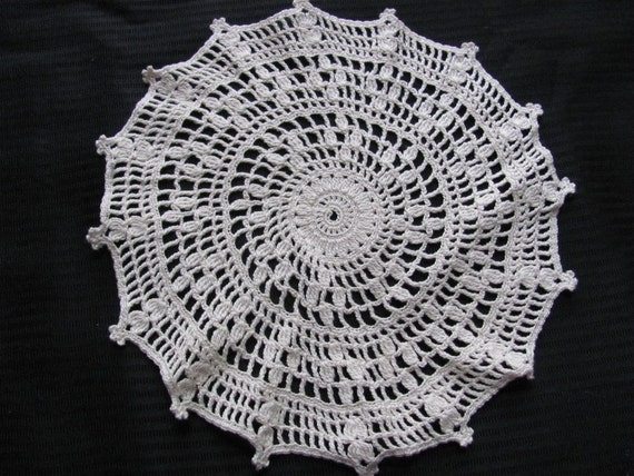 Vintage Ivory Crocheted Doily 10 Inches
