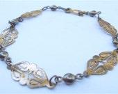 Vintage  Filigree Gold Bracelet Gold Filled Bracelet Gold Plated Bracelet Vintage Gold  Ornate Bracelet Vintage Gold Petite Adult Bracelet