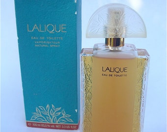 Vintage Lalique Perfume Lalique Eau de Toilette For Women Art Deco Crystal Atomizer Pump Spray Bottle Crystal French Parfum 100ml