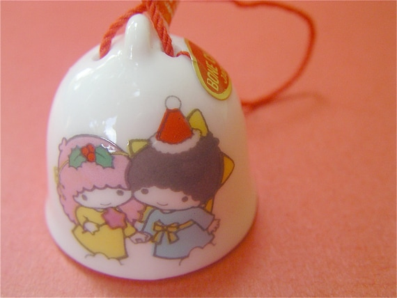 Vintage Christmas Bell Sanrio Christmas Ornament My Twin Stars Christmas Bell Sanrio Ornament Kawaii Bell Fine China Bell Bone China Bell