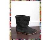 Vintage Suede Black Boots Size 9.5